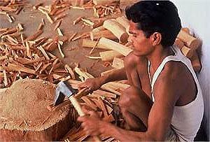 fabrication de bracelet en bois de santal