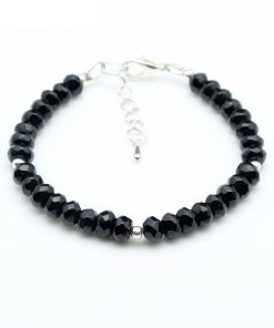 Bracelet Spinelle Noire Véritable