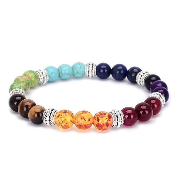 bracelet 7 chakras triple