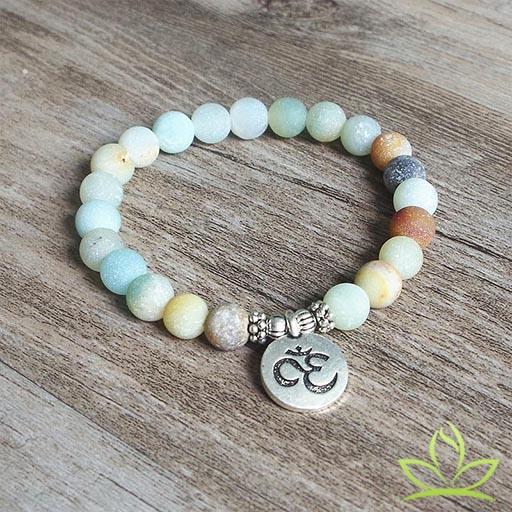 Bracelet Mala OM Amazonite