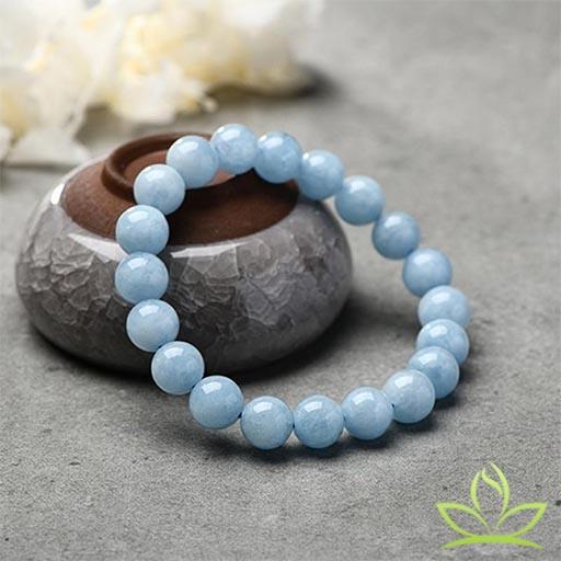 Bracelet Mala pierre Aigue Marine