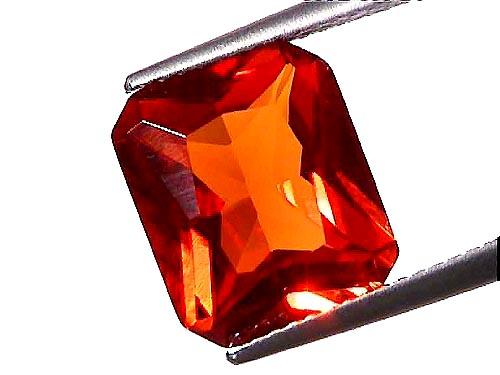 bijoux orange saphir